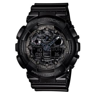 【CASIO G-SHOCK】世界時間雙顯計時錶/(GA-100CF-1ADR)
