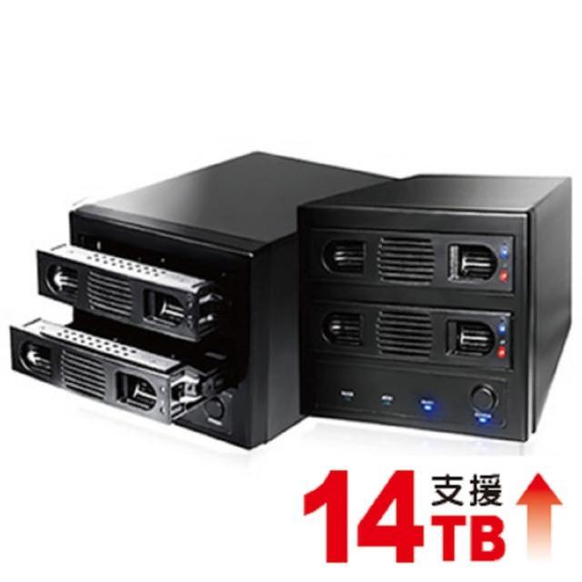 【伽利略】USB3.0 + eSATA 2-bay硬碟外接盒(35D-U32R)