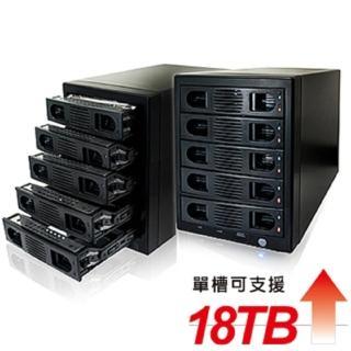 【伽利略】USB3.0 + eSATA 5-bay硬碟外接盒(35D-U3ES5R)