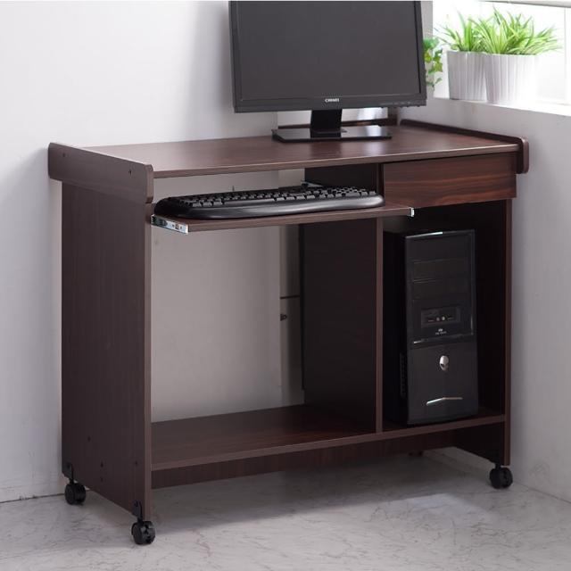 【樂活玩家】電腦桌(工作桌 鍵盤滑軌 有抽屜 附輪)