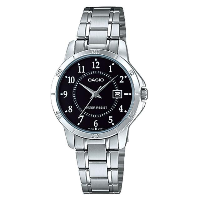 【CASIO】經典淑女時裝數字指針腕錶(LTP-V004D-1B)