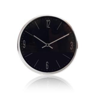 【LOVEL】20cm炙熱黑簡約鋁框壁鐘/掛鐘(C723-BK)
