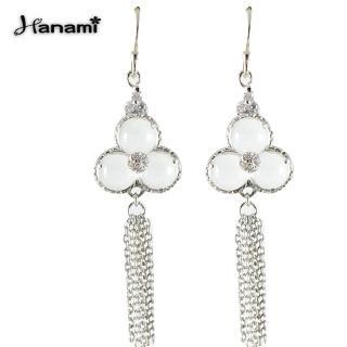 【Hanami】華麗浪漫天然冰種水沫玉耳環