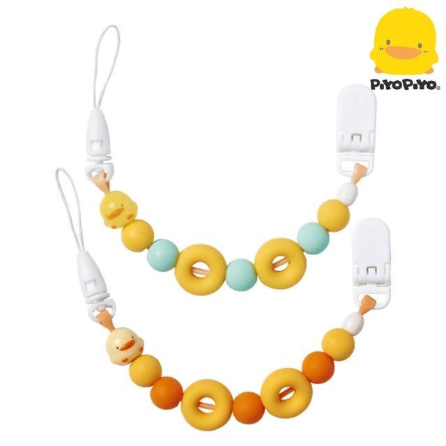 【黃色小鴨Piyo Piyo】夜光甜甜圈奶嘴鍊(食品級矽膠不傷齒齦)