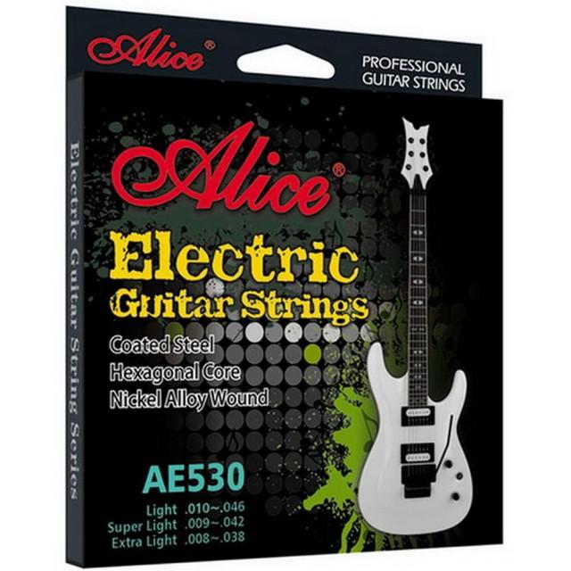 【美佳音樂】Alice AE530-SL 超輕型/防鏽/防變色/鍍金珠/鍍層進口六角鋼芯 電吉他套弦(09-42)