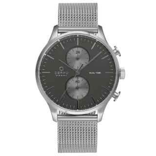 【OBAKU】流轉光年雙時區米蘭帶錶款(V196GUCUMC)