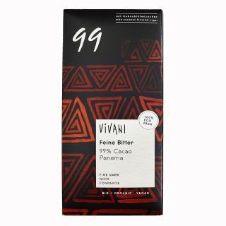 【ViVANI】有機純99%黑巧克力片80g
