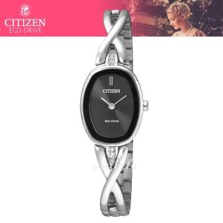 【CITIZEN 日系星辰】時尚精選_光動能_不鏽鋼錶帶_礦物玻璃鏡面_指針女錶(EX1410-88E)