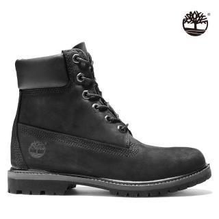 【Timberland】女款黑色磨砂皮革六吋靴(8658A001)
