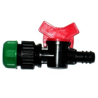 【灑水達人】六分水管轉16mm開關接頭球閥3入