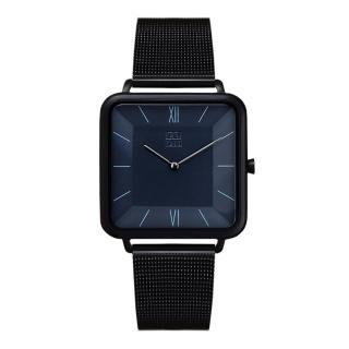 【ZOOM】THIN 時尚極簡晶礦方錶(黑 /35.5*35.5mm)