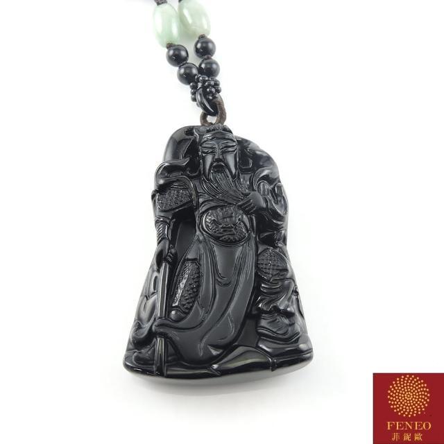 【菲鈮歐】武財神關公黑曜項鍊(1790)