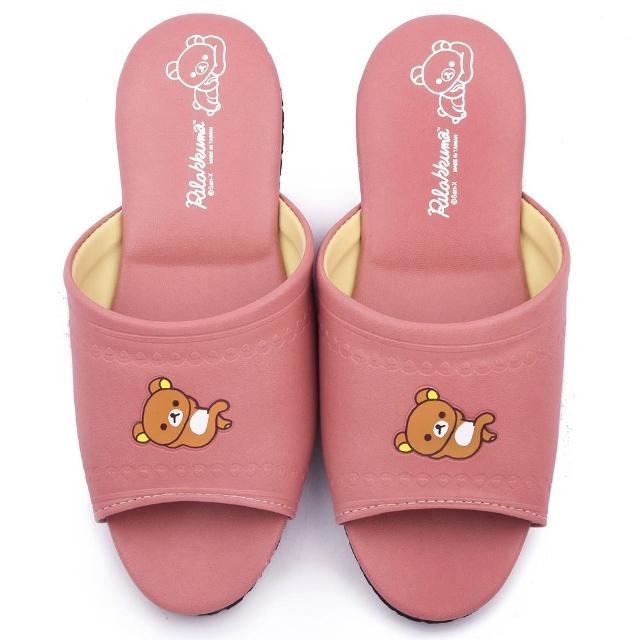 【童鞋城堡】拉拉熊 成人款 靜音防滑室內拖鞋(KM26174-豆沙)