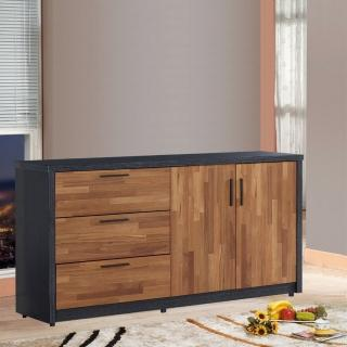 【樂和居】楓尚5尺雙色碗盤櫃/櫥櫃(下座)