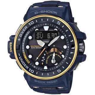【CASIO 卡西歐】G-SHOCK 海上救難隊六局電波多功能腕錶(57mm/GWN-Q1000NV-2A)