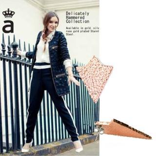 【Anna Lou Of London】倫敦品牌hammered arrow鎚擊箭頭玫瑰金耳環(絕版品 售完不補)