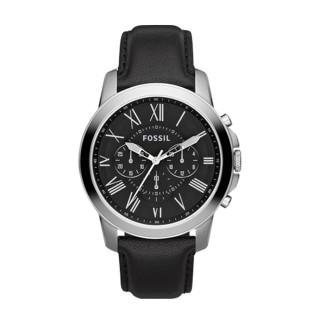 【FOSSIL】型男必備 皮革錶帶 三眼顯示 強化玻璃 指針男錶(FS4812)