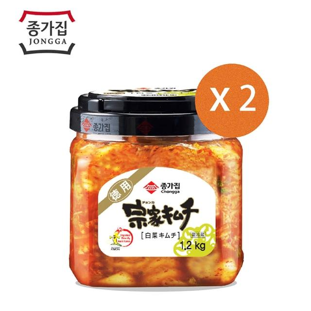 【韓國 宗家府】正統泡菜1.2kg黑蓋2入(泡菜)