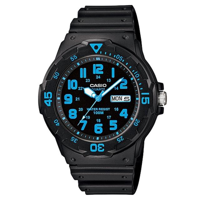 【CASIO】潛水風DIVER LOOK系列錶(MRW-200H-2B)