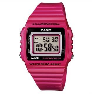 【CASIO】亮眼大螢幕數位錶(W-215H-4A)