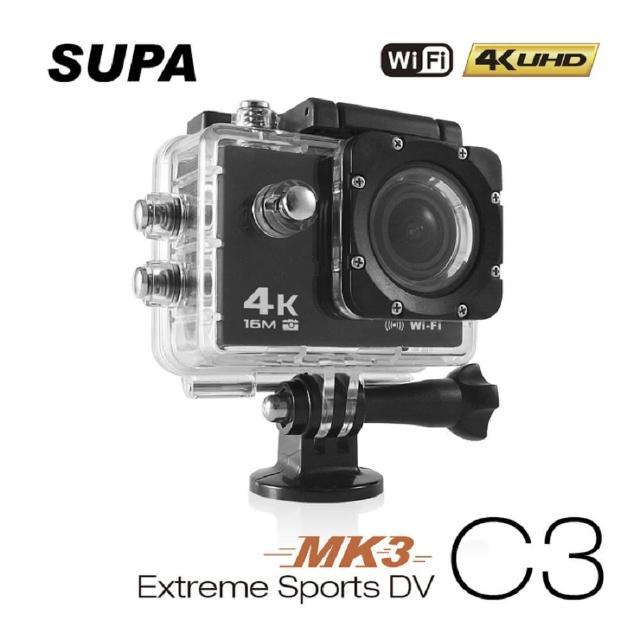 【速霸】C3 三代-MK3 4K/1080P超高解析度 WiFi 極限運動 機車防水型行車記錄器