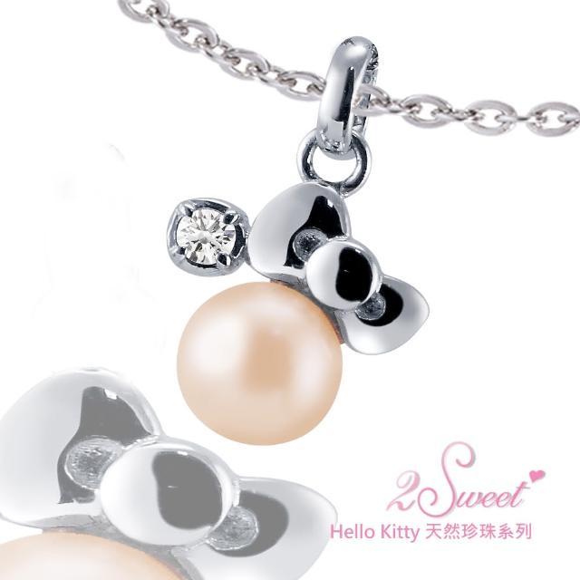【甜蜜約定2sweet-PET889】Hello Kitty珍珠系列白鋼墬飾(Hello Kitty)