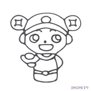 【BabyTiger虎兒寶】愛玩色 兒童無毒彩繪玻璃貼-小張圖卡- 小財神 IPCPS27(台灣製)