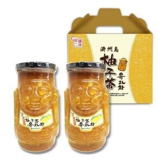 【韓味不二】韓國濟州島柚子茶禮盒 1kg*2入(土地公柚子茶陪你過好年)