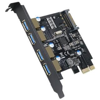 【伽利略】PCI-E USB 3.0 4 Port 擴充卡(PTU304B)