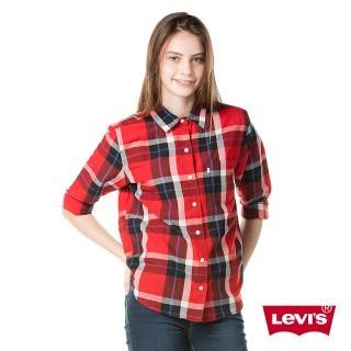 【Levis】女款格紋長袖牛仔襯衫 / BOYFRIEND版型