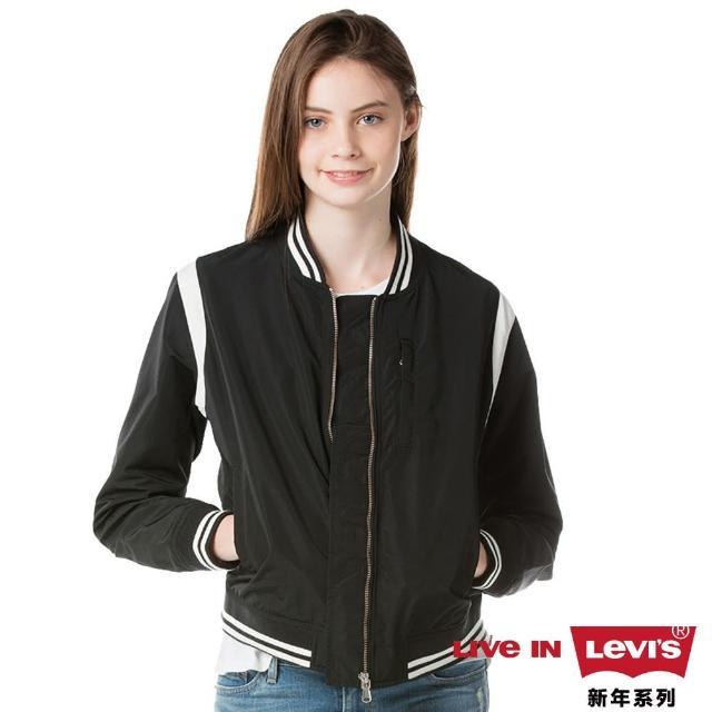 【Levis】女款夾克外套 / 隱藏式口袋 / 豹紋內�� / 海報款 / CNY