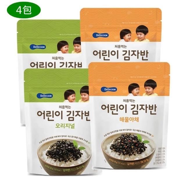 【韓國 BEBECOOK】兒童無鹽初食海苔-原味3盒