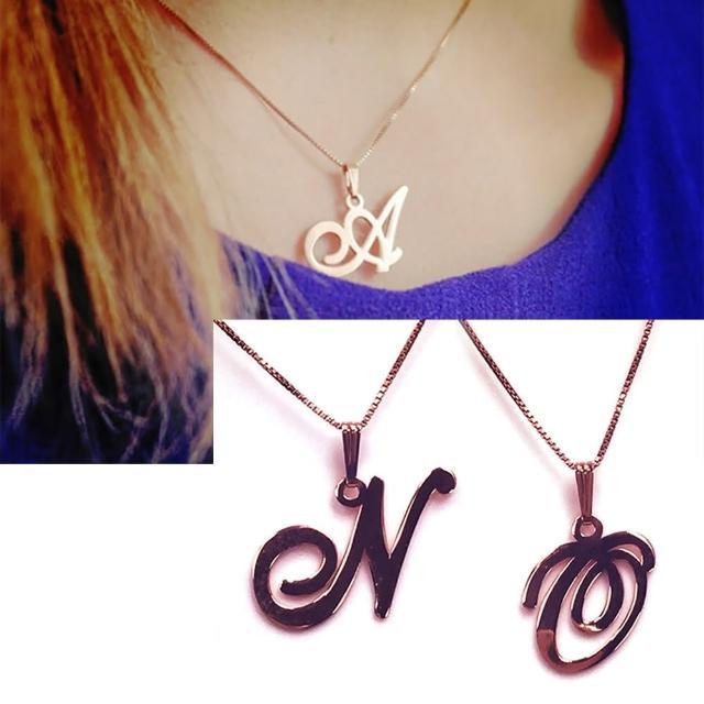【Anna Lou Of London】倫敦品牌 N O 個性字母項鍊 玫瑰金(絕版品 售完不補)