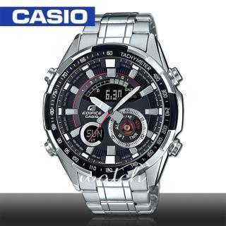 【CASIO 卡西歐 EDIFICE 系列】時尚精選 雙顯設計 超亮LED照明 溫度測量 世界時間 男錶(ERA-600D)