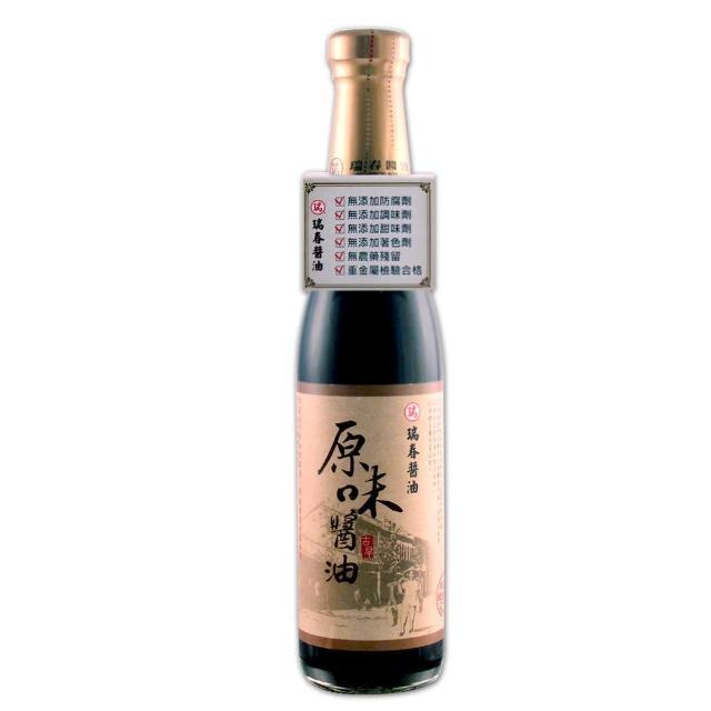 【瑞春醬油】原味醬油X4入(420ml/瓶)