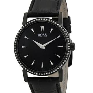 【Hugo Boss Black】簡約流線時尚皮帶女錶(H1502303)