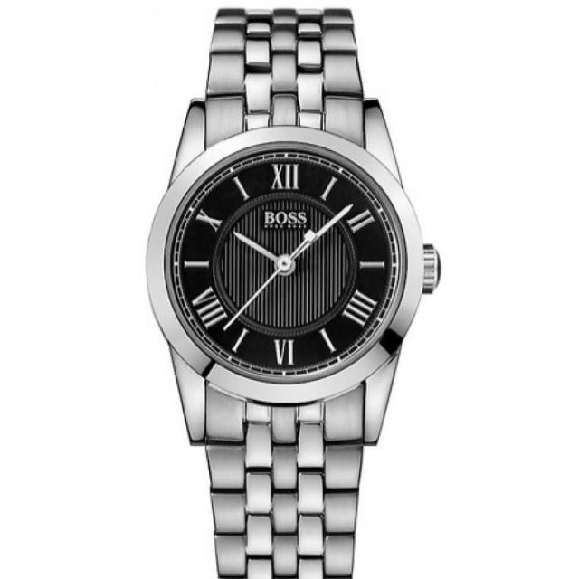 【Hugo Boss Black】簡約流線時尚女錶(H1502282)