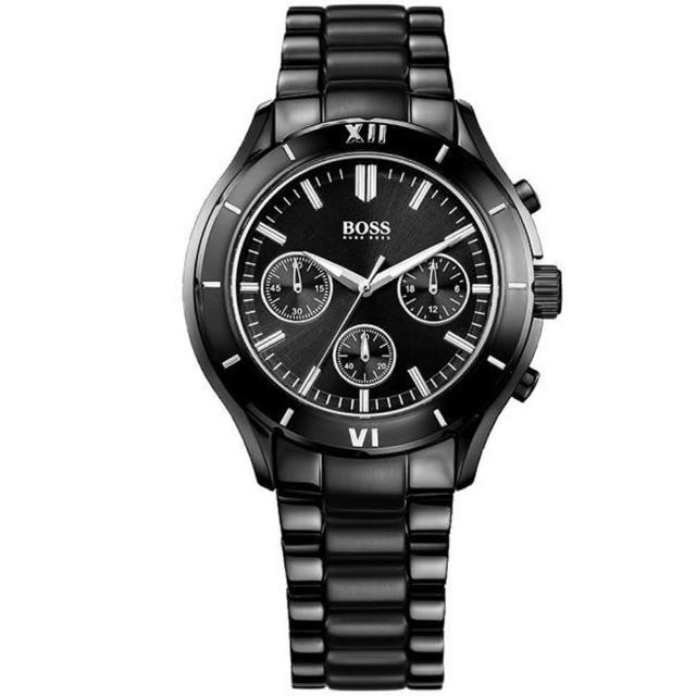 【Hugo Boss Black】簡約流線計時時尚腕錶(40MM/H1502284)