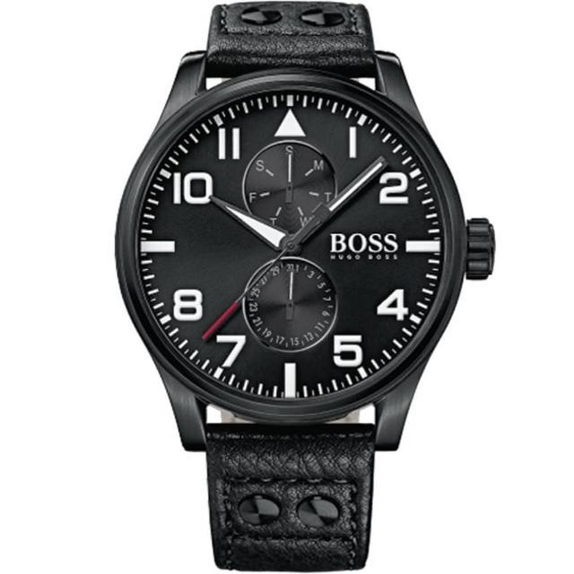 【Hugo Boss Black】流行時尚皮帶錶(1513083)
