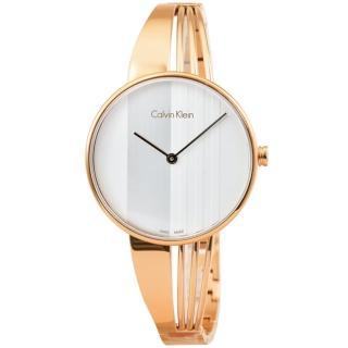 【CK Calvin Klein】Drift 凱文克萊時尚手環錶-玫瑰金(K6S2N616)