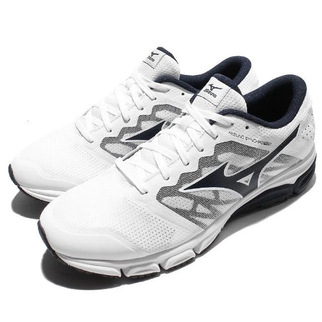 【MIZUNO】慢跑鞋 Synchro MD 2 運動 男鞋 美津濃 低筒 跑鞋 跑步 男 白 黑(J1GE171818)