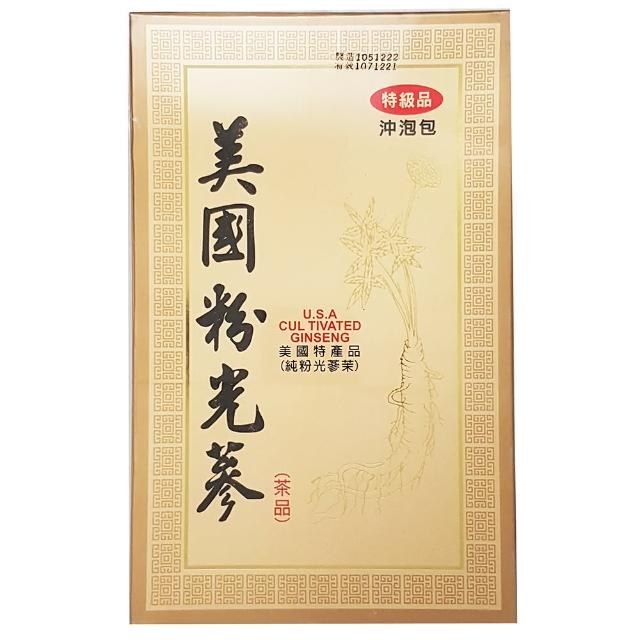 【展瑄】美國粉光蔘茶(4g*20包入)