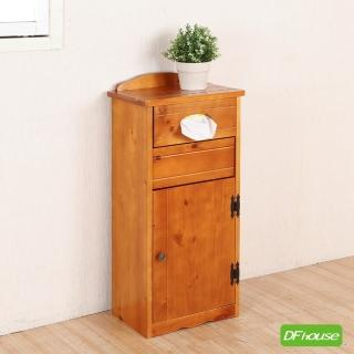 【DFhouse】艾爾瑪彩繪實木複合式垃圾桶