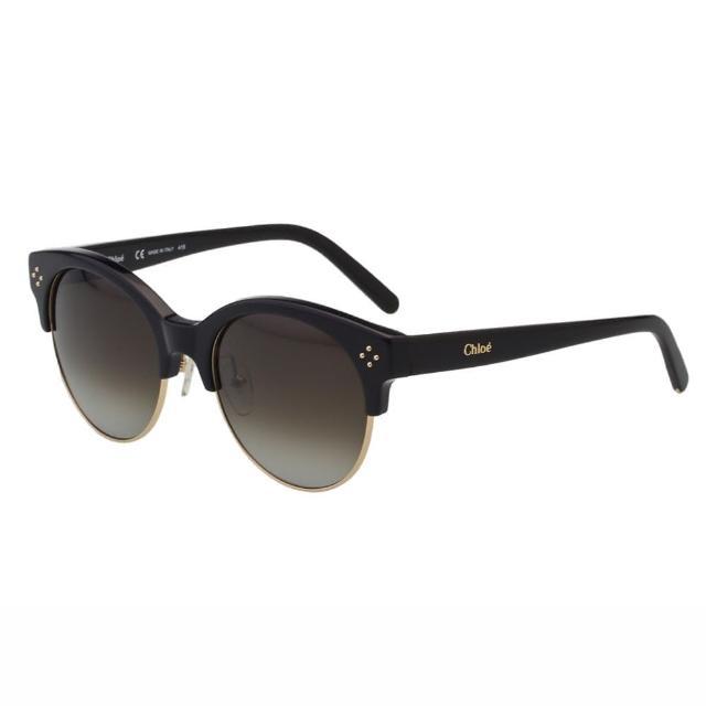 【CHLOE】-太陽眼鏡 復古款CE704S-001(黑色)
