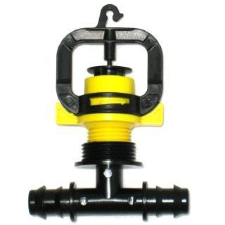 【灑水達人】黃色旋轉式微霧噴頭16mm雙通接頭6個