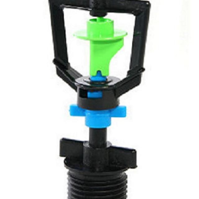 【灑水達人】綠藍色迴轉型360度旋轉噴頭加6分外牙10個一包