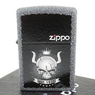 【ZIPPO】美系-Skull Crown-皇冠骷髏圖案設計打火機