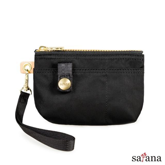 【satana】實用拉鍊化妝包/零錢包(黑色)