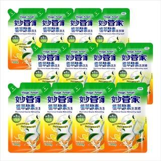 【妙管家-買6送6】植萃酵素洗碗精補充包1000g(6入 箱)