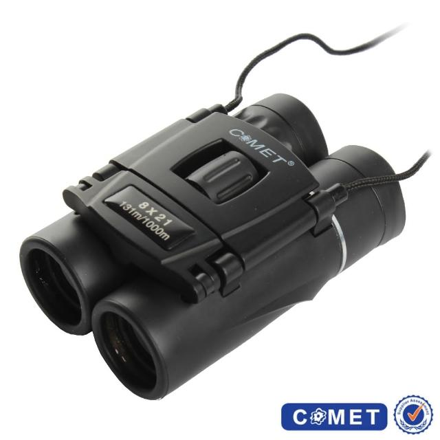 【COMET】超迷你黑8x21望遠鏡附背帶(8*21)